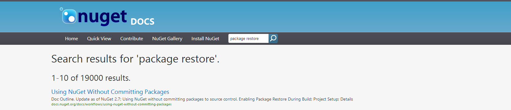 Migrate away from MSBuild-based NuGet package restore - Xavier Decoster